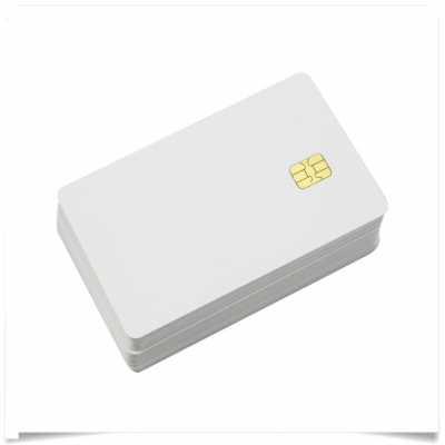 Blank White Chip Card
