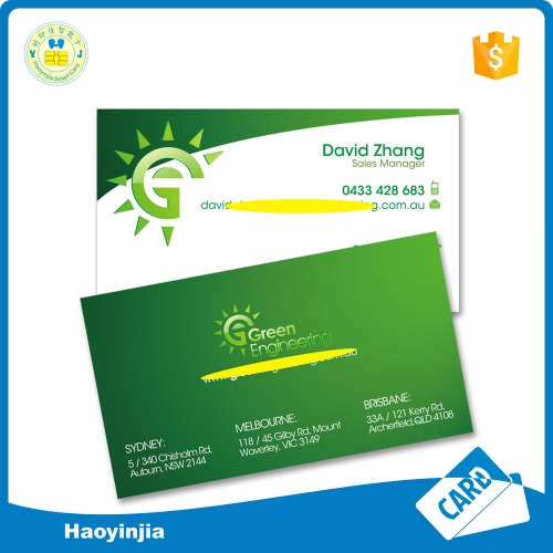 High Quality Embossed Paper Business Cards Printing Shenzhen